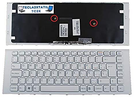 Teclado ESPAÑOL para PORTATIL Sony VAIO MP-09L16LA-886 Blanco con Marco Blanco: Amazon.es: Electrónica