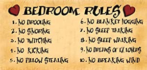 Good Birthday Occasion Wooden Funny Sign Wall Plaque Bedroom Rules