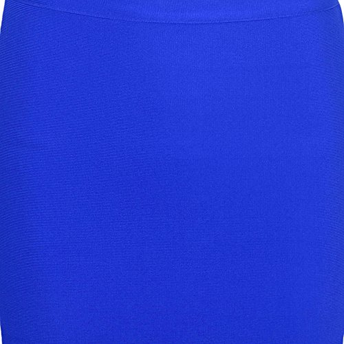 Blau Piece Knee Color Pure Set Bandage Dress Women Length 2 HLBandage fTxvq6Uf