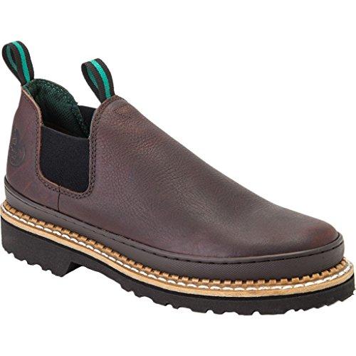 Georgia Giant Romeo Work Shoes | Soggy Brown - Brown (Georgia Boot Oxfords)