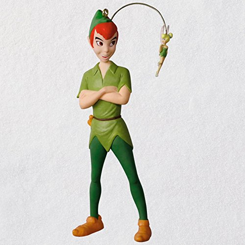 Hallmark Keepsake Christmas Ornament 2018 Year Dated, Disney Peter Pan and Tinkerbell, Faith Trust Pixie Dust ()
