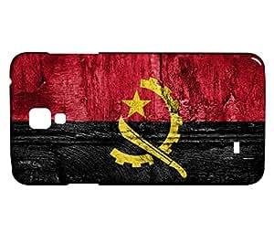 Funda Carcasa para Galaxy S4 Mini Bandera ANGOLA 07
