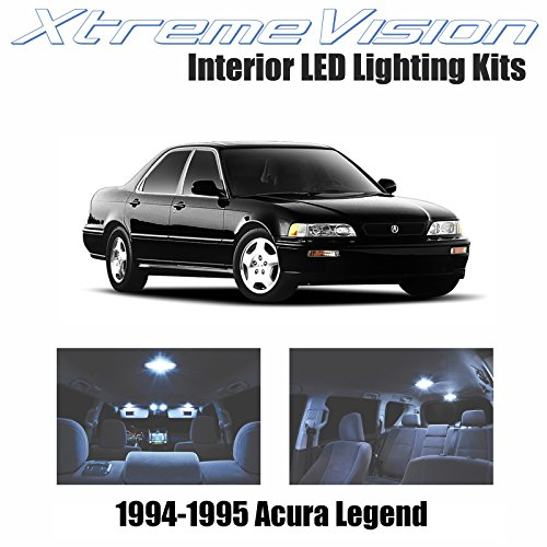 Acura Legend Interior - XtremeVision LED for Acura Legend 1994-1995 (7 Pieces) Cool White Premium Interior LED Kit Package + Installation Tool