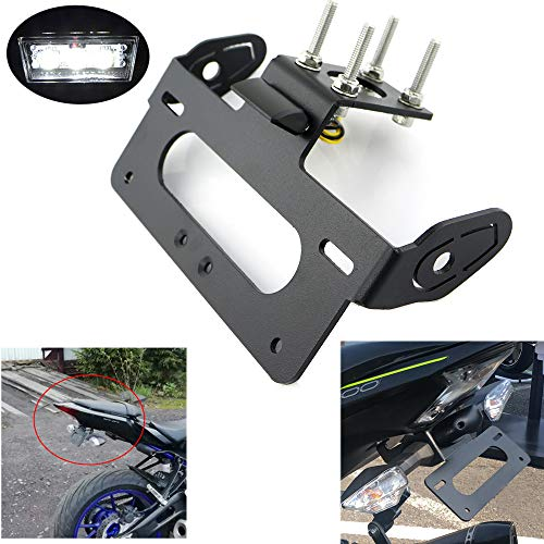 R6 Tail Tidy/Fender Eliminator /License Plate Holder for YAMAHA YZF R6 2006-2019, WithLEDLicense Plate Light, Compatible with OEM/ Stock Blinker And Aftermarket Turn Signal ()