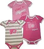 Philadelphia Flyers GIRLS PINK 3pc Creeper Set Infant Baby