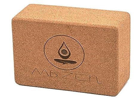 Vrik Bloque de Yoga de Corcho de Alta Densidad - Anti Deslizante - El Mejor Ladrillo de Yoga para Profundizar en Tus Poses - 45 Días de Garantia