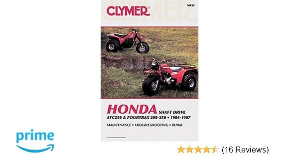 Clymer honda atc250 fourtrax 200 250 1984 1987 maintenance clymer honda atc250 fourtrax 200 250 1984 1987 maintenance troubleshooting repair clymer all terrain vehicles penton staff 9780892874293 fandeluxe Gallery