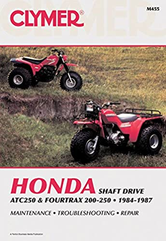 clymer honda atc250 & fourtrax 200 250, 1984 1987 maintenance 86 honda 250 fourtrax parts clymer honda atc250 & fourtrax 200 250, 1984 1987 maintenance, troubleshooting, repair (clymer all terrain vehicles) subsequent edition