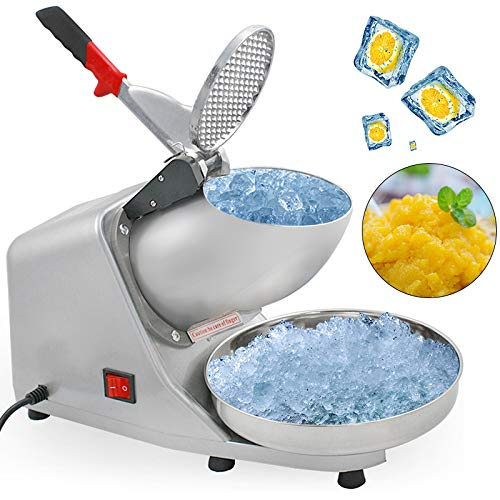 ZENY Ice Shaver Machine Electric Snow Cone Maker Stainless Steel Shaved Ice Machine 145lbs Per Hour ()