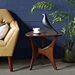 """INK+IVY Blaze Brown Triangle Wood Side Table - 21W x 20D x 20.75H""""-Brown"""