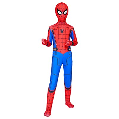 Riekinc Kids Spandex Zentai Bodysuit Superhero Halloween Cosplay Costumes: Clothing