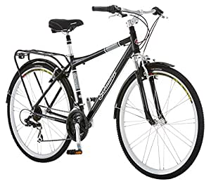 Schwinn Discover Men's Hybrid Bike (700C Wheels),Black