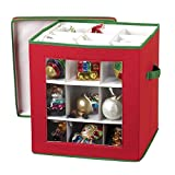 nGenius See-through Christmas Ornament Storage Box for 27 Large Ornaments
