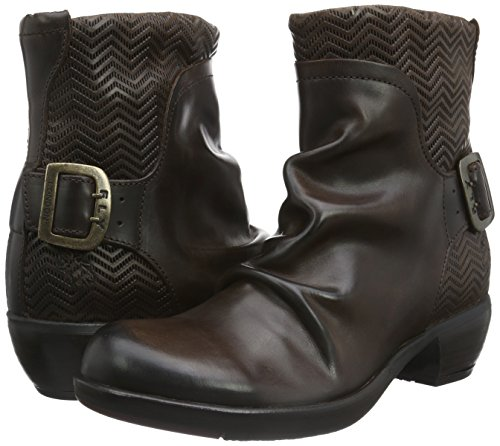 FLY London Melb687fly - Botas cortas Mujer Marrón (Dkbrown 001)