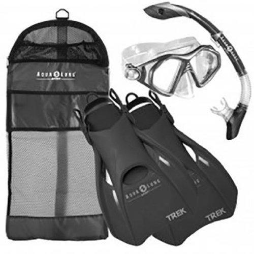 Aqua Lung Sport Admiral 2 LX, Island Dry LX & Trek Snorkeling Set Small...