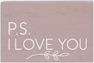 "Simply Said, INC Small Talk Rectangles 3.5""x5.25"" Wood Sign STR1350 - P.S. I Love You"