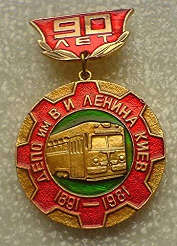 Kiev tram Lenin 90 Years USSR Soviet Union Russian Bolshevik Historical Political Pin Badge