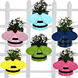 Trust Basket Set Of 6 - Bee Planters Light Pink,Yellow,Blue ,Green,Pink,Teal