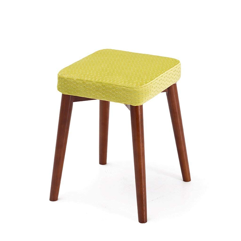 K DYR 46CM Solid Wood Bench Stool Stackable Stool Dressing Stool Small Bench (color  F)