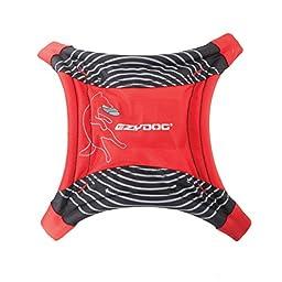 EzyDog DogStar Flyer Flying Disc Dog Toy, Red
