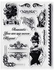 CATSRE Lady Silicone Clear Seal Stamp DIY Scrapbooking Embossing Photo Album Decorative Clear Stamp
