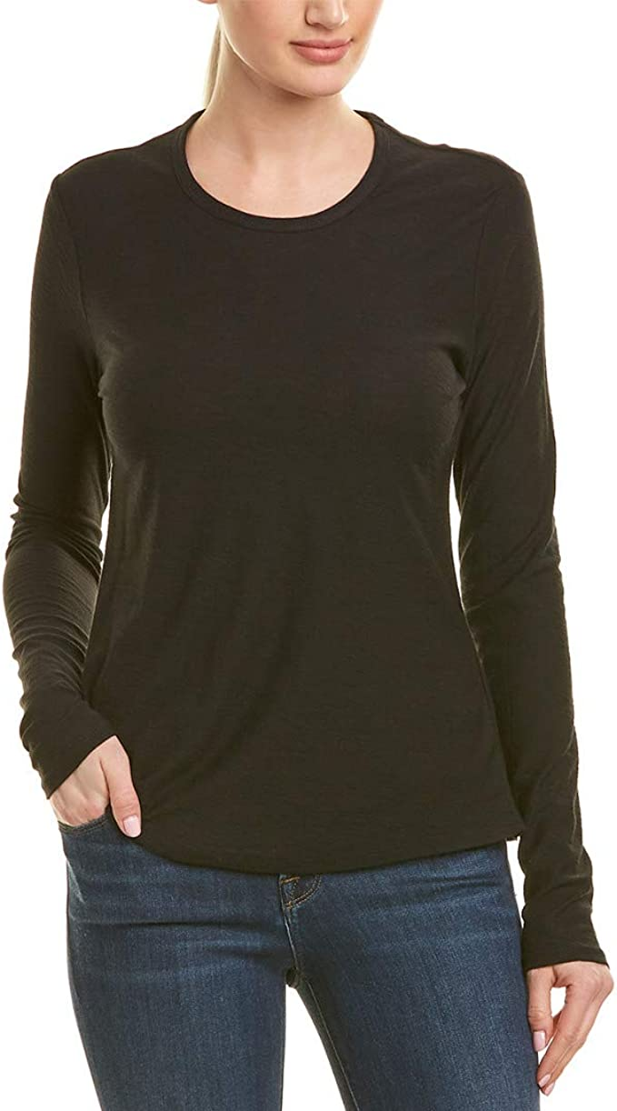 Felina Cotton /& Modal Long Sleeve Crew Neck Shirt