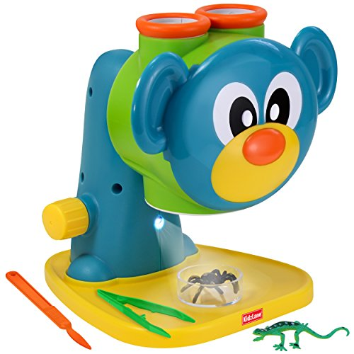 Microscope Science Toy for Kids - Toddler Preschool Microscope with Guide & Activity Booklet