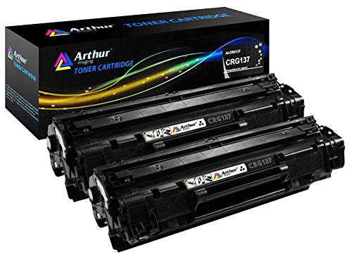 Arthur Imaging Compatible Toner Cartridge Replacement for Canon 137 (9435B001AA) (Black, 2-Pack)