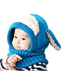 Baby Girls Boys Winter Warm Scarf Shawl Hat Knit Cute Face Cover Balaclava