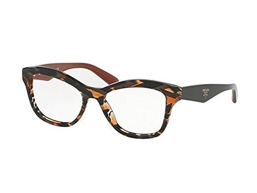ba115d07717 Prada Women s PR 29RV Eyeglasses Sheaves Grey Orange 52mm at Amazon ...