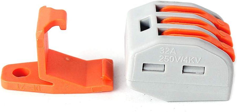 maidodo 10PCS Connecteurs de bornier /à cinq trous Push-in universel pour bornier avec 10 dispositifs de retenue Connecteurs de fils compacts 222-415