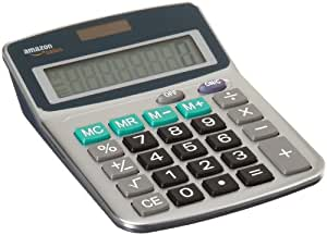 AmazonBasics - Calculadora de 8 dígitos, color plateado