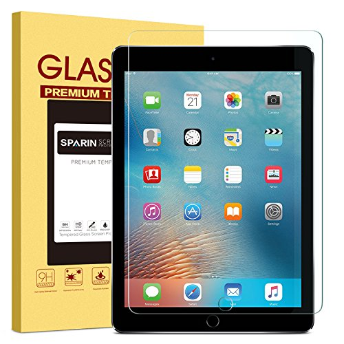 New-iPad-97-2018-2017-iPad-Pro-97-iPad-Air-2-iPad-Air-Screen-Protector-SPARIN-Tempered-Glass-Screen-Protector---Apple-Pencil-Compatible-High-Definition-Scratch-Resistant
