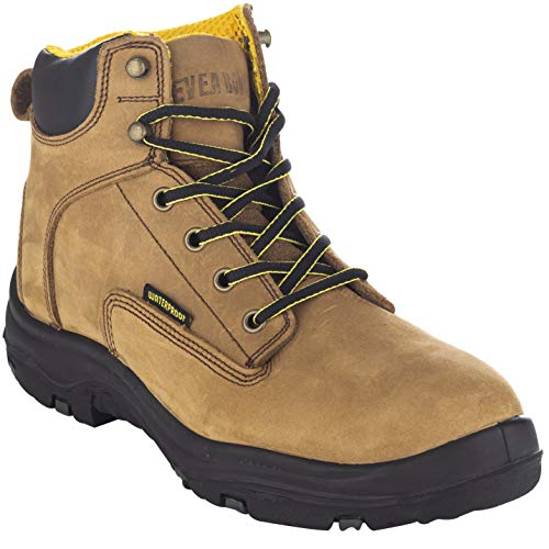 EVER BOOTS Men's Premium Leather Waterproof Work Boots Insulated Rubber Outsole for Hiking (7.5...