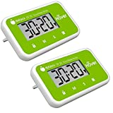 The Miracle Hover Kitchen Timer - Touchless Digital Countdown Timer, Hands-Free Control, Set of 2 Green