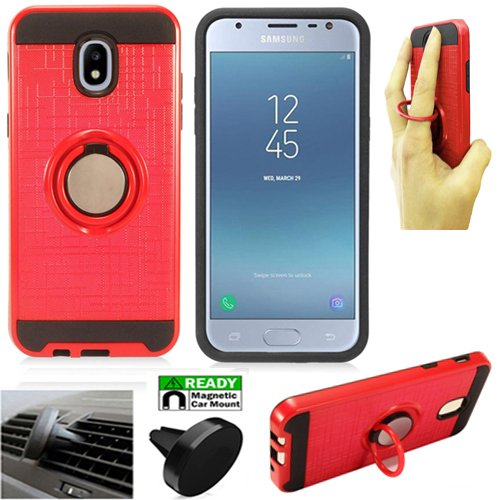 Phone Case Compatible for Samsung Express-Prime-3 AT&T, Amp-Prime-3,  J3-2018, J3-Achieve, J3-Star, J3-3rd Gen, J3-Mission-2, J3-Top Car Mount  Cover