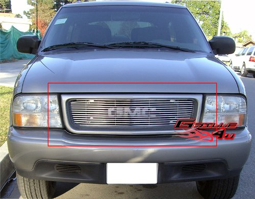 - APS G65718A Polished Aluminum Billet Grille Bolt Over for select GMC Jimmy Models