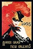 Fashion Blond Girl 1955 Mardi Gras New Orleans Louisiana Carnival 20