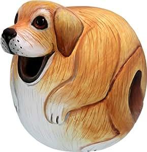 Bobbo Inc Birdhouse perro Lab bola hecho a mano no tóxico