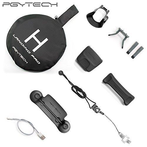 - PGYTECH Accessories Combo for Mavic pro standard(landing pad/Control Stick Protector/Lens Hood /propeller holder/landinggear)
