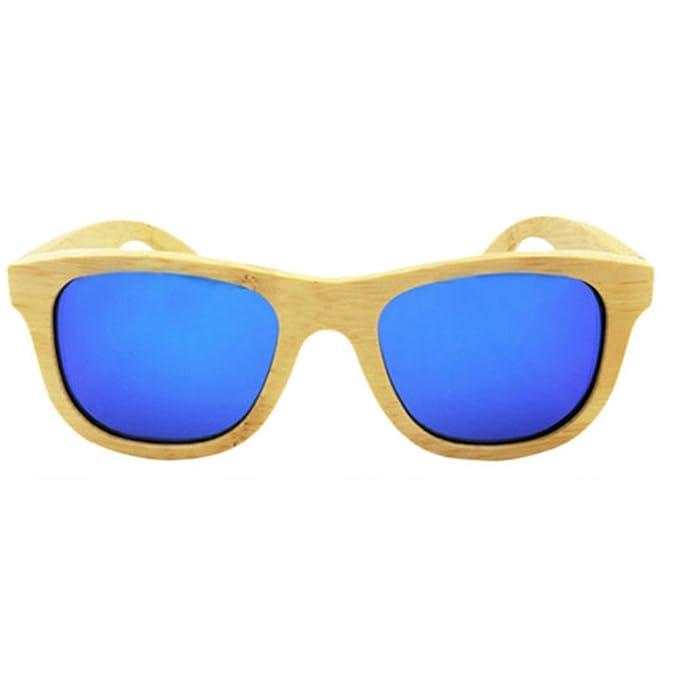 HBselect Unisex Bambu Gafas De Sol Para Hombre Polarizadas Retro Gafa De Sol De Mujer UV400 Con Caja De Madera: Amazon.es: Ropa y accesorios