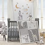 Lambs-Ivy-Signature-Moonbeams-4-Piece-Crib-Bumper-Gray-Gold-White-Animals