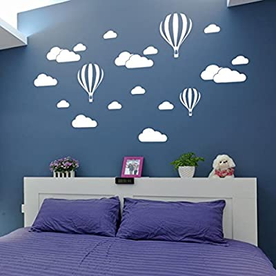 Pocciol Wall Stickers, DIY Large Clouds Wall Stickers Children's Room Home Decoration Art Balloon Wall Decals