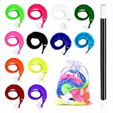 huianer 12pcs Magic Worm Toys Wiggly Fuzzy Carnival Party Favors(Random Color)