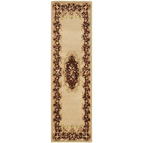 Safavieh Bergama Collection BRG166C Handmade Ivory and Rust Premium Wool Runner (2'3