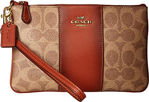 COACH Women's Color Block Coated Canvas Signature Small Wristlet