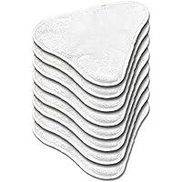Spares Plus Lot de 6 lingettes en microfibre lavables pour balai vapeur H20, H20X5