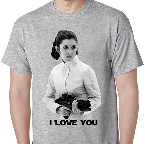 [Sexy Princess Leia Quote I Love You Star Wars Princess Laya T Shirt Large Grey] (Star Wars Leia Sexy)