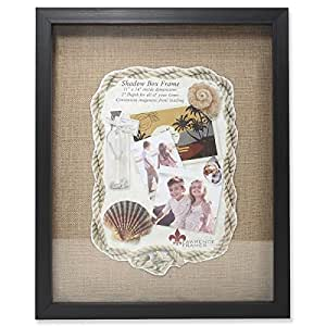 Lawrence Frames Front Hinged Shadow Box Frame with Burlap Display Board, 11 by 14-Inch, Black