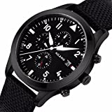 Black Fabric Watch high-end Automatic Mechanical Watches Swiss Wave Military Pilots Waterproof Men's Watch